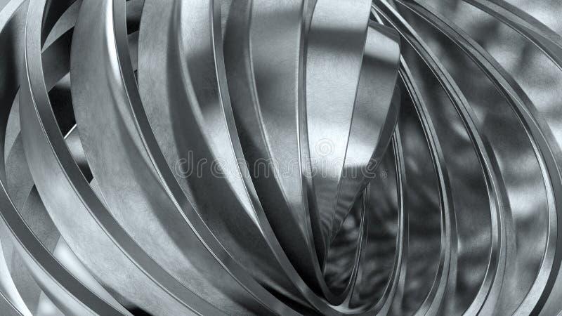 Glanzende metaalringen stock illustratie