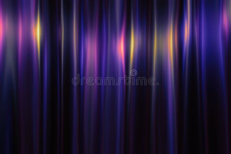 Glanzende multicolored metaalachtergrond Heldere kleurenbezinning Het glanzen de textuur van het roestvrij staalmetaal vakantie vector illustratie