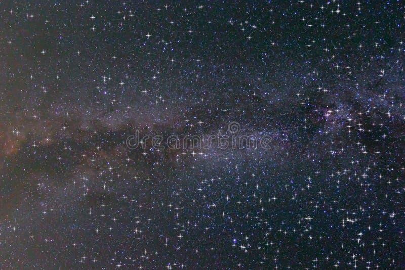 Glanzende nacht sterrige hemel royalty-vrije stock foto