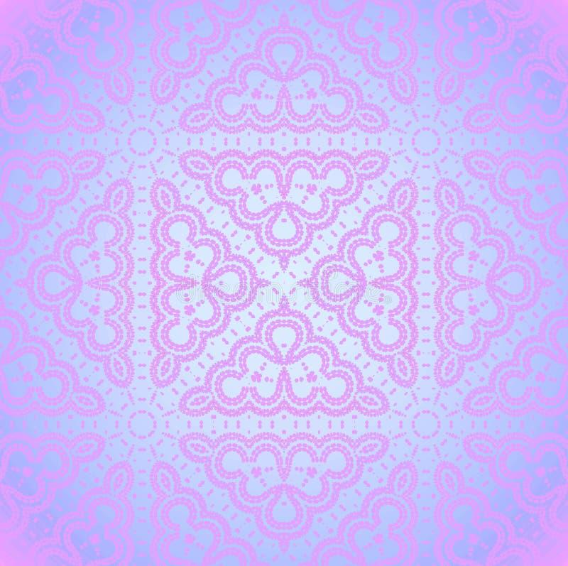 Glanzende ornamenten violette purpere naadloos royalty-vrije illustratie