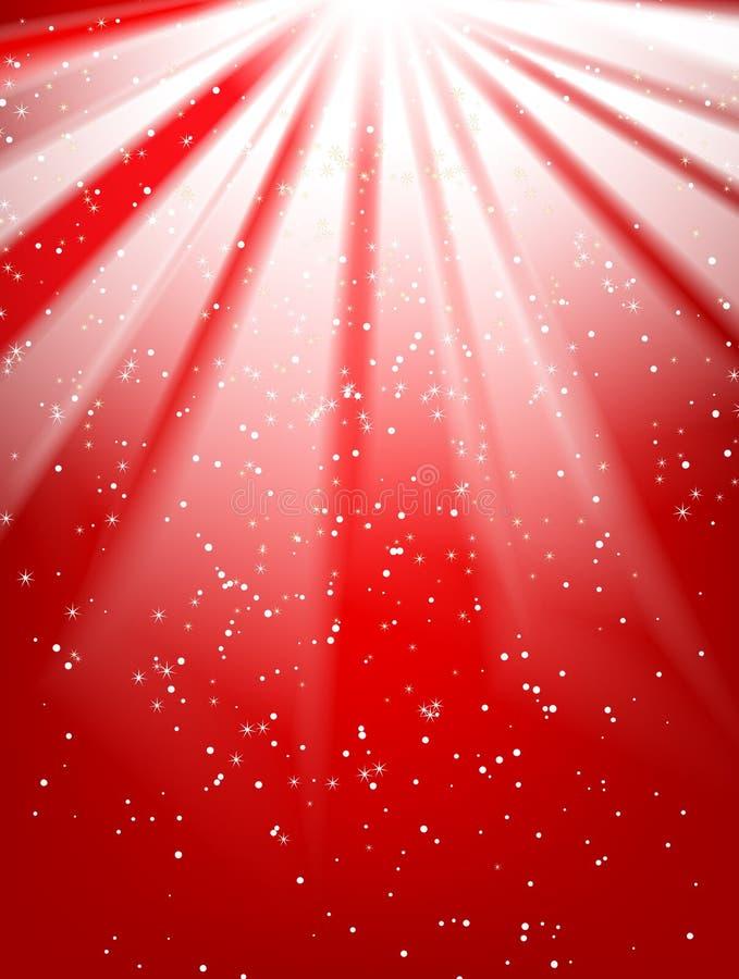 Glanzende rode achtergrond vector illustratie
