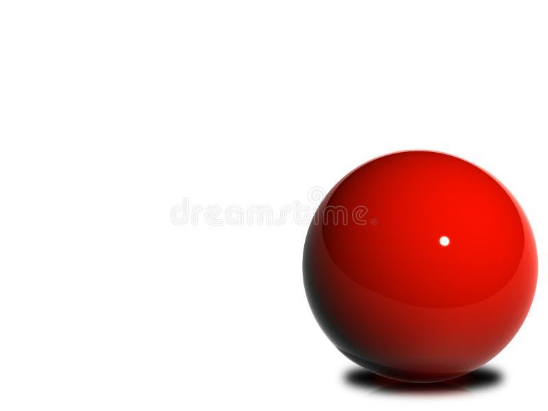 Glanzende Rode Bal royalty-vrije illustratie