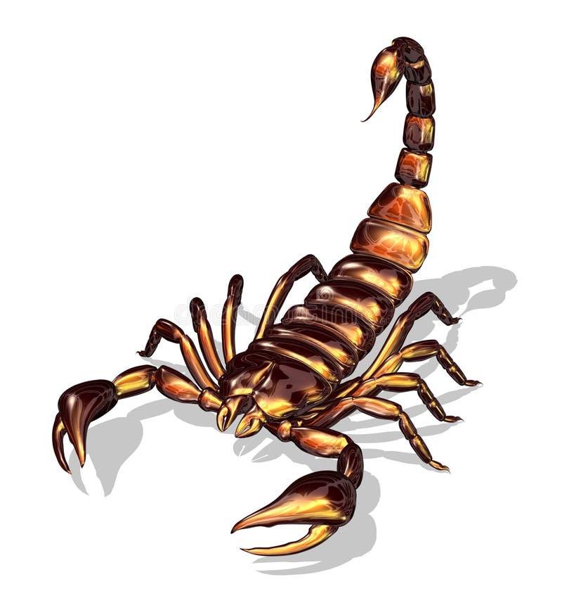 Glanzende Schorpioen stock illustratie