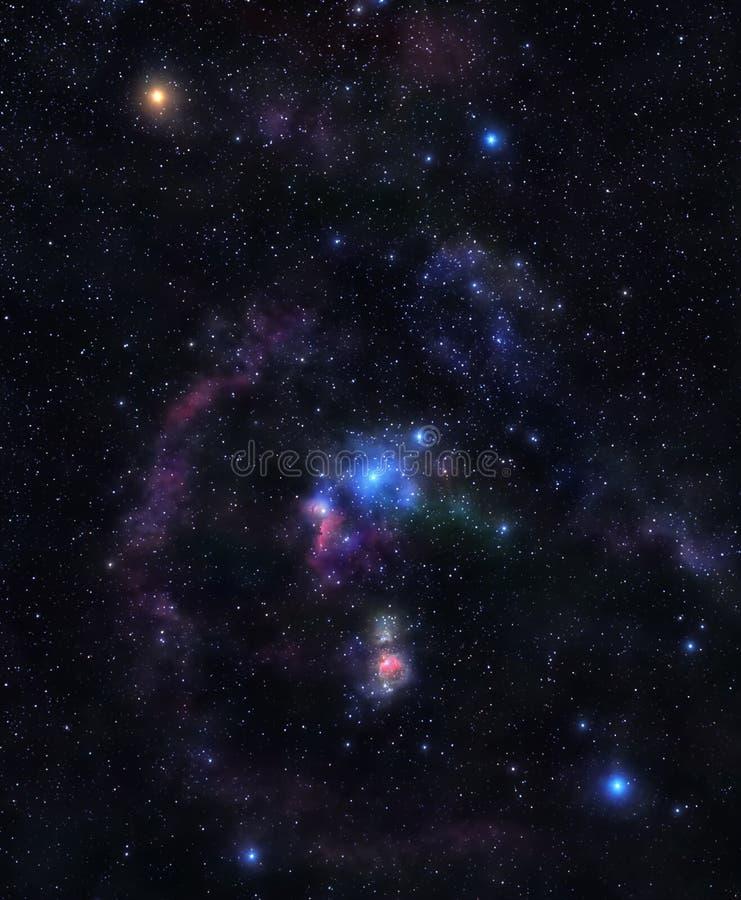 Glanzende sterren van Orion royalty-vrije stock foto