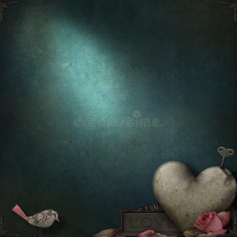 glanzende textuur met romantische thematische elementen royalty-vrije stock fotografie