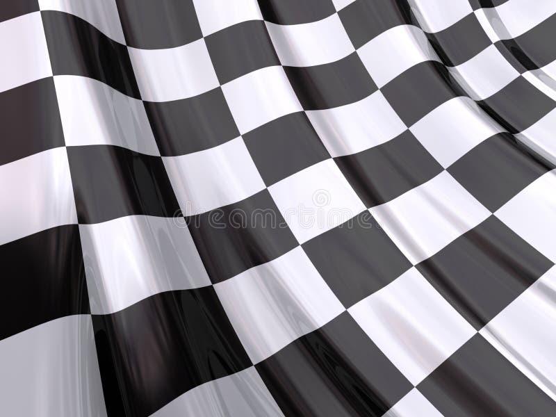 Glanzende Vlag van Eind van Ras vector illustratie