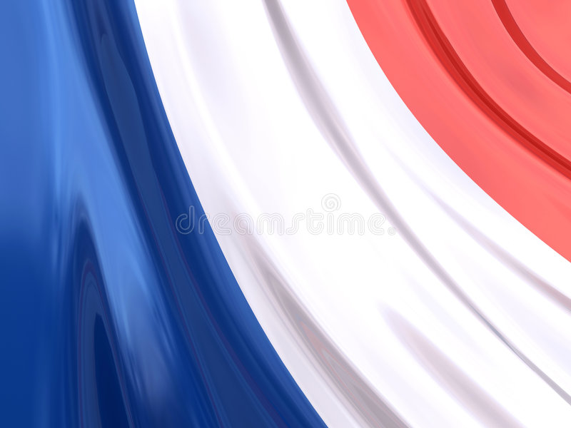 Glanzende Vlag van Frankrijk vector illustratie