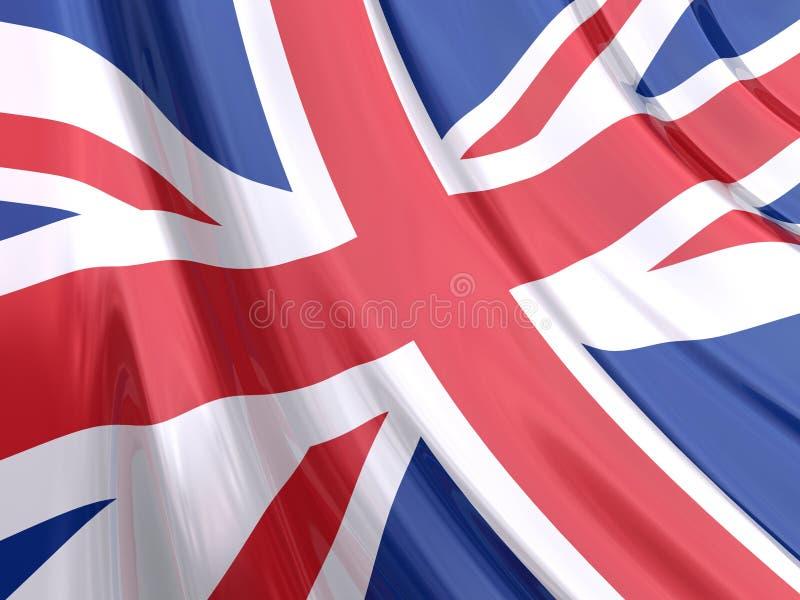 Glanzende Vlag van het Verenigd Koninkrijk