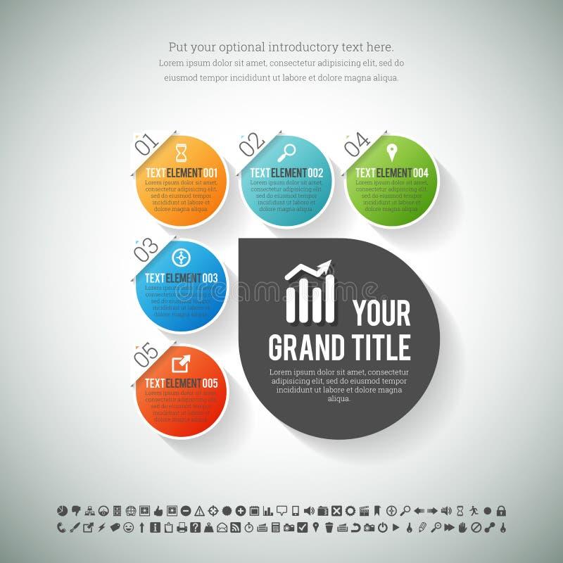 Glanzende Vlakke Vorm Infographic vector illustratie