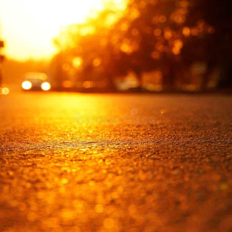 The glare of the hot sun on the hot asphalt stock photos