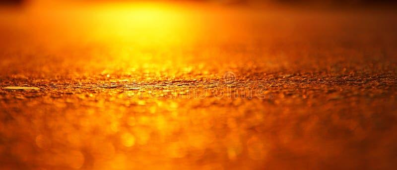 The glare of the hot sun on the hot asphalt stock photo
