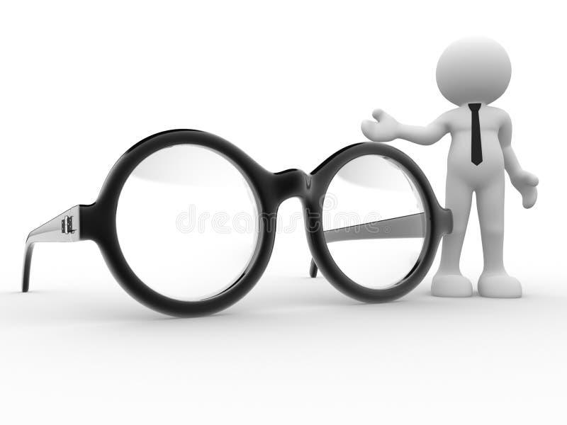 glasögon royaltyfri illustrationer