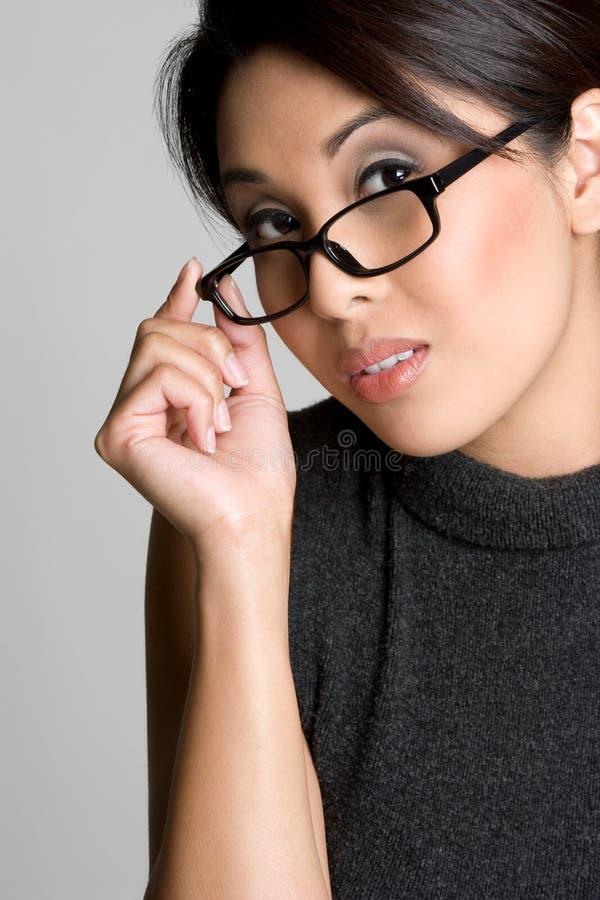 glasögonflicka royaltyfri bild