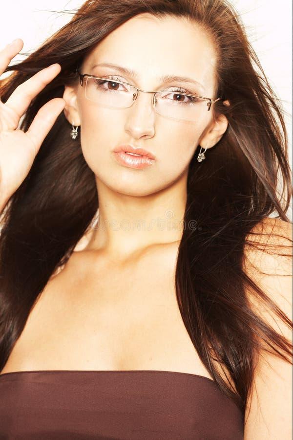 glasögonkvinna arkivbilder