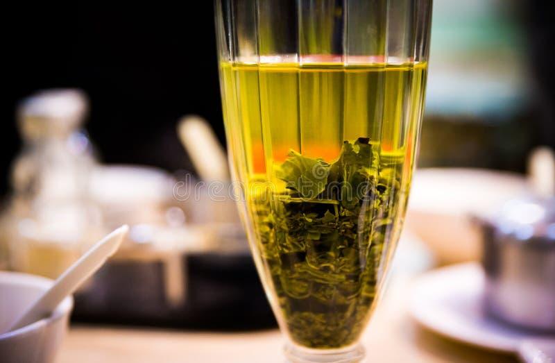 Glas用绿茶 库存图片