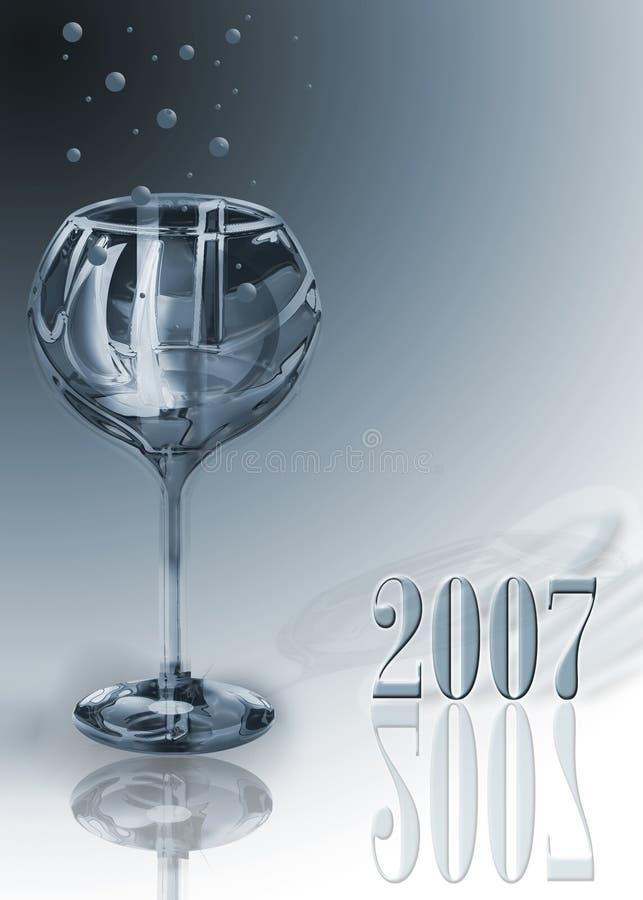 Glas 2007 stock illustratie