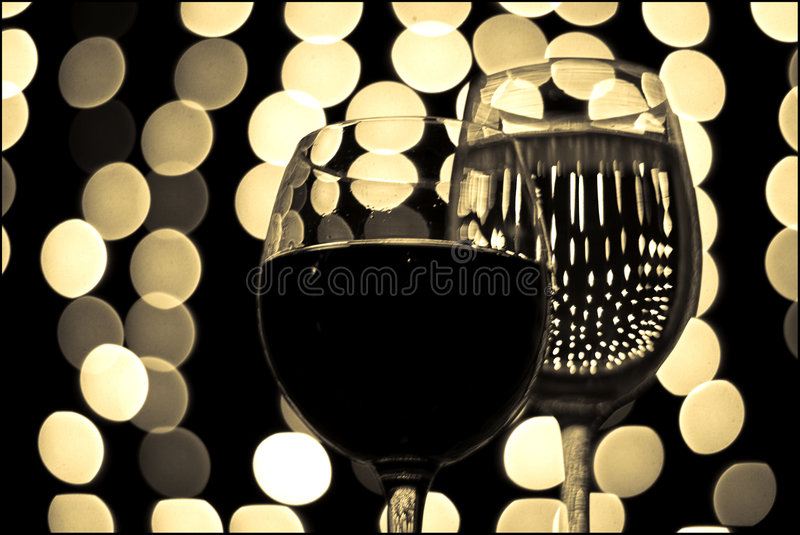 Glas 9 van de wijn stock foto