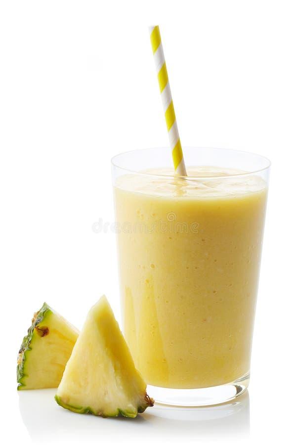 Glas ananas smoothie stock fotografie