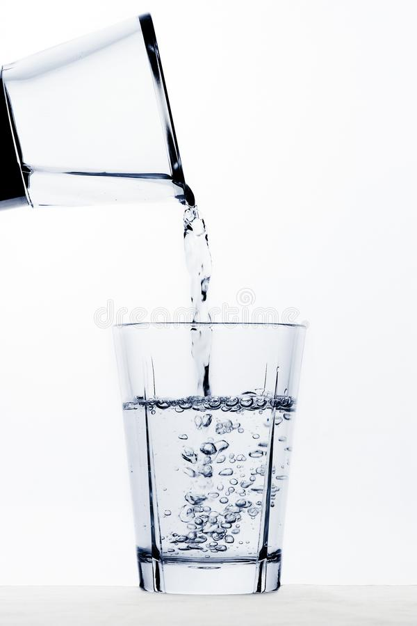 Vattenglas royaltyfria bilder