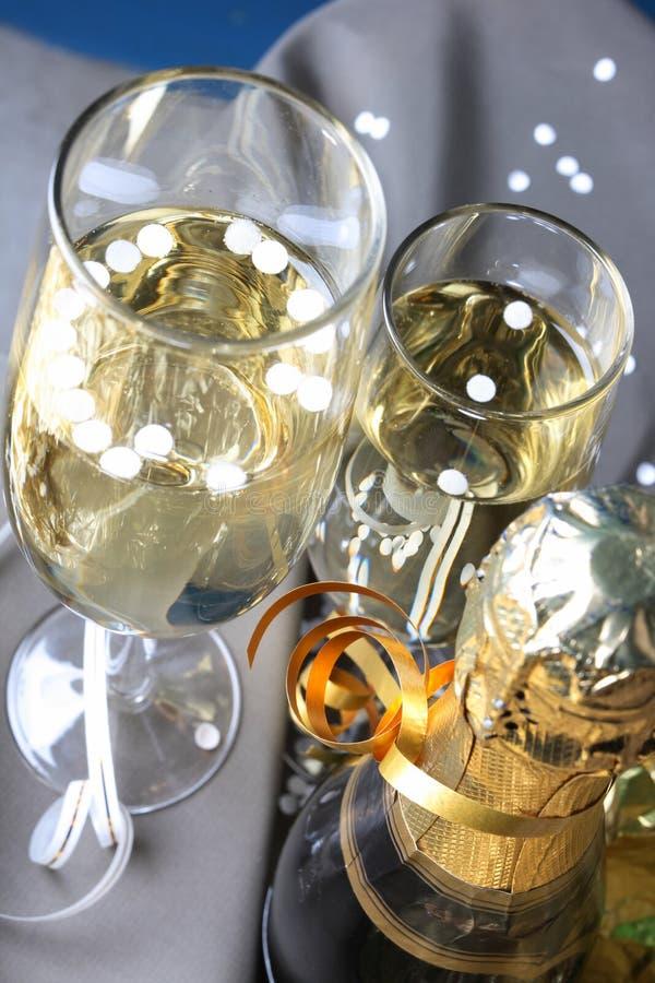Glas bereiten Sie für Feiertag vor stockbilder