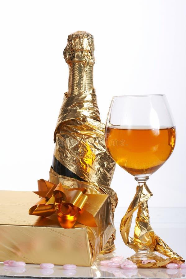 Glas bereiten Sie für Feiertag vor lizenzfreie stockbilder