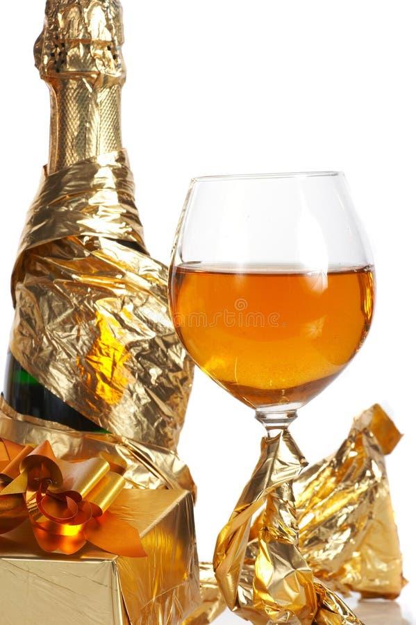 Glas bereiten Sie für Feiertag vor stockbild
