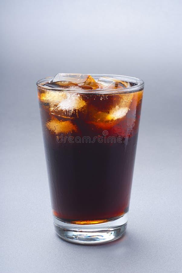 Glas bevroren soda royalty-vrije stock foto
