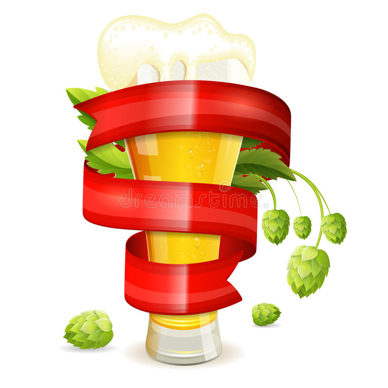 Glas bier vector illustratie