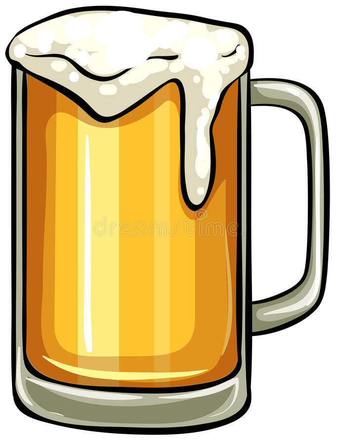 Glas Bier stock abbildung