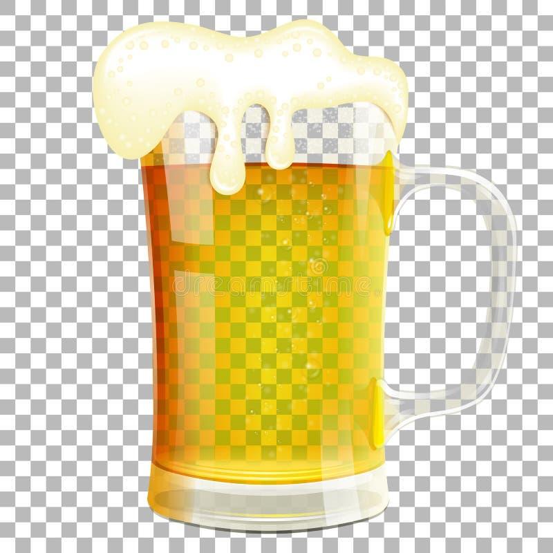 Glas bier royalty-vrije illustratie