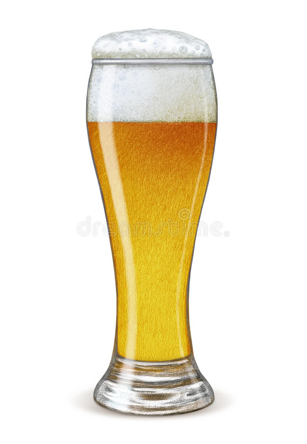 Glas bier vector illustratie