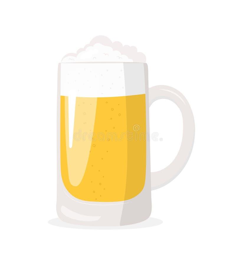 Glas bier Het pictogram van toestellen oktoberfest royalty-vrije illustratie