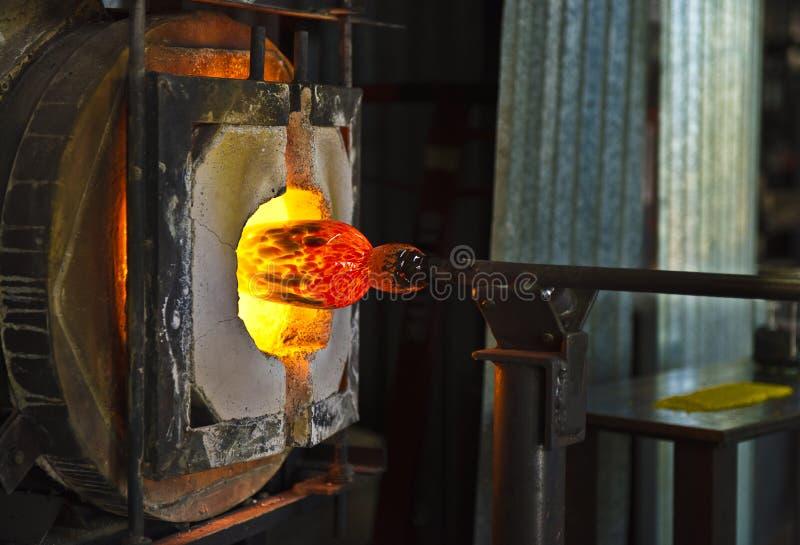 Glas blazende oven stock afbeelding