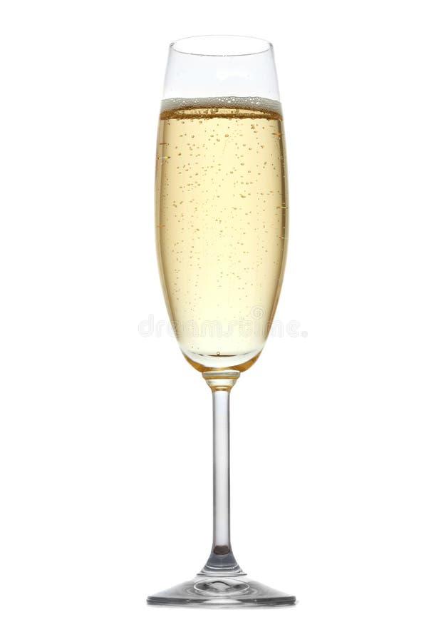 Glas champagne stock foto