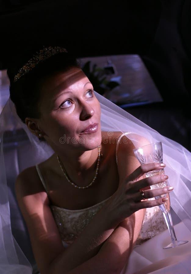 Gläser mit Champagner stockfoto
