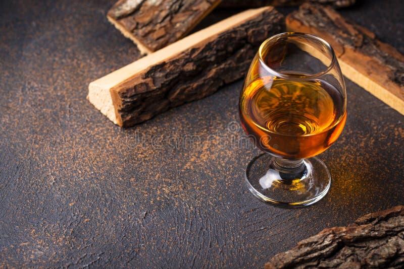 Glas cognac of whisky royalty-vrije stock afbeelding