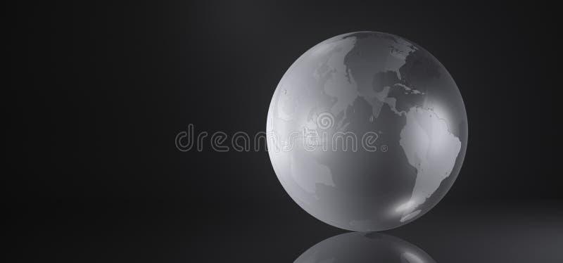 Glas-Crystal Earth Globe stock abbildung