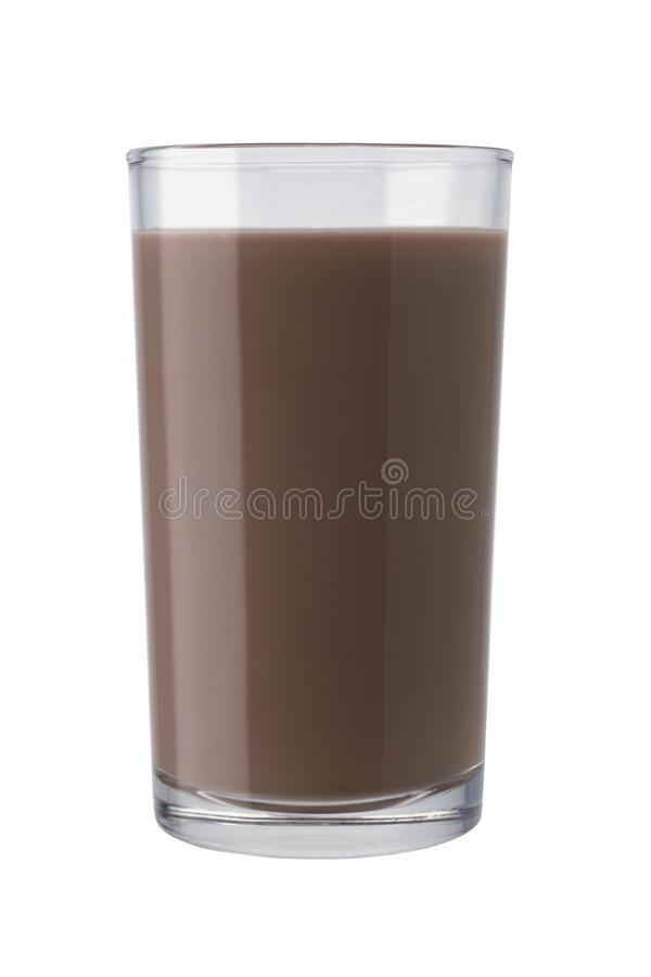 Glas de Melk van de Chocolade royalty-vrije stock foto's