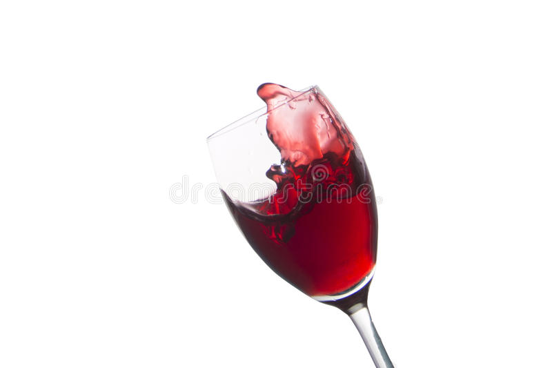 Glas del vino rojo aislado en blanco fotografía de archivo libre de regalías