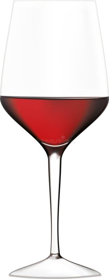 Glas der Rotweinillustration auf einem weißen Hintergrund stockfotografie