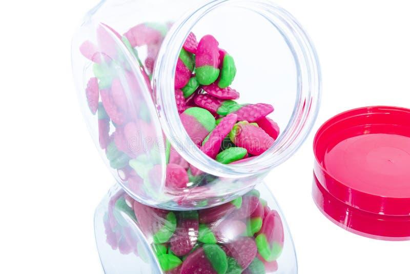 Glas der Süßigkeit stockfotos