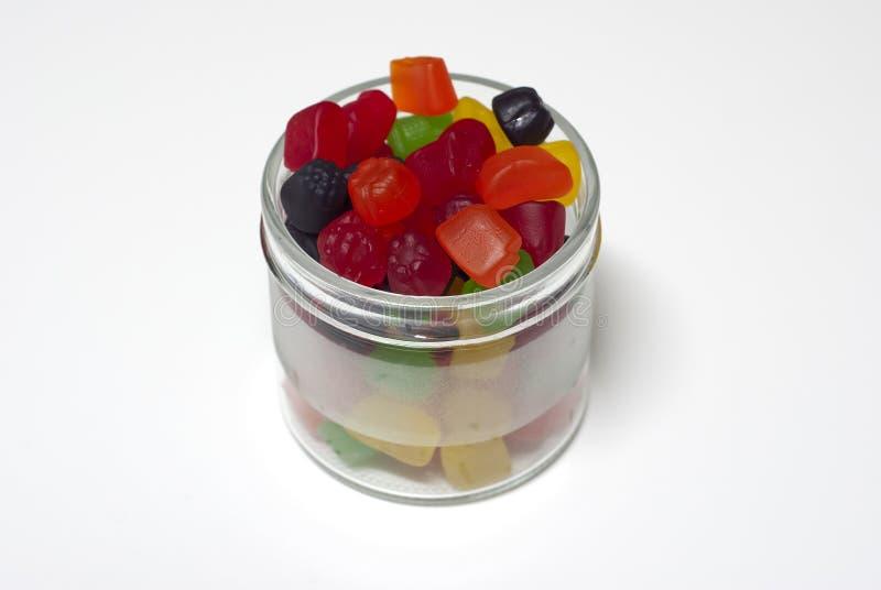 Glas der Süßigkeit lizenzfreie stockfotos