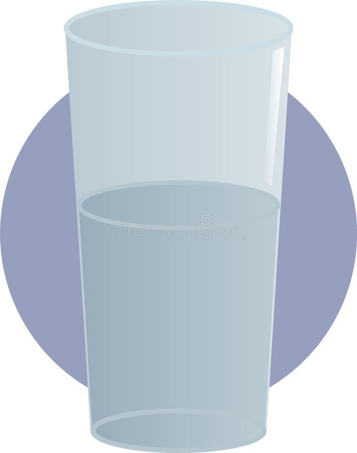 Glas der Wasserabbildung lizenzfreie abbildung