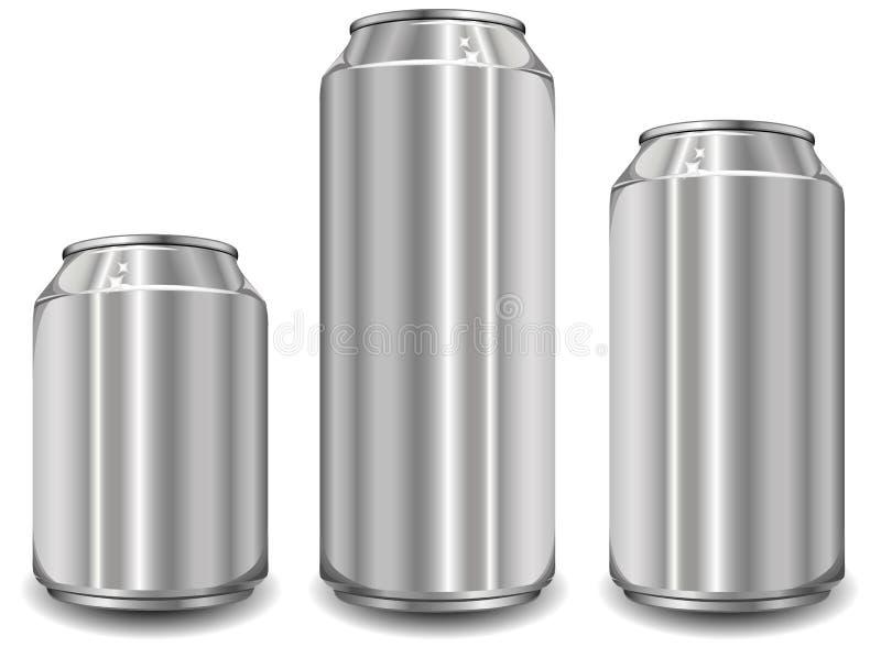 Glas des Aluminiums drei stock abbildung