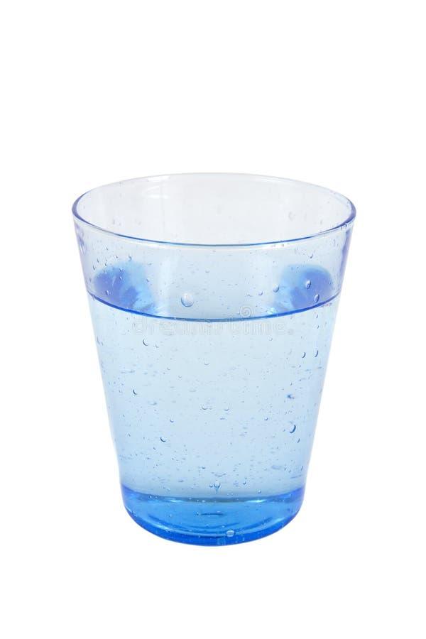 Glas des blauen Wassers lizenzfreie stockfotografie