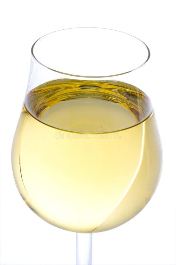 Glas des weißen Weins lizenzfreie stockbilder
