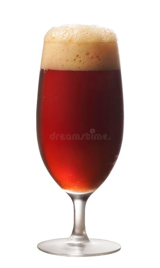Glas donker bier stock afbeelding