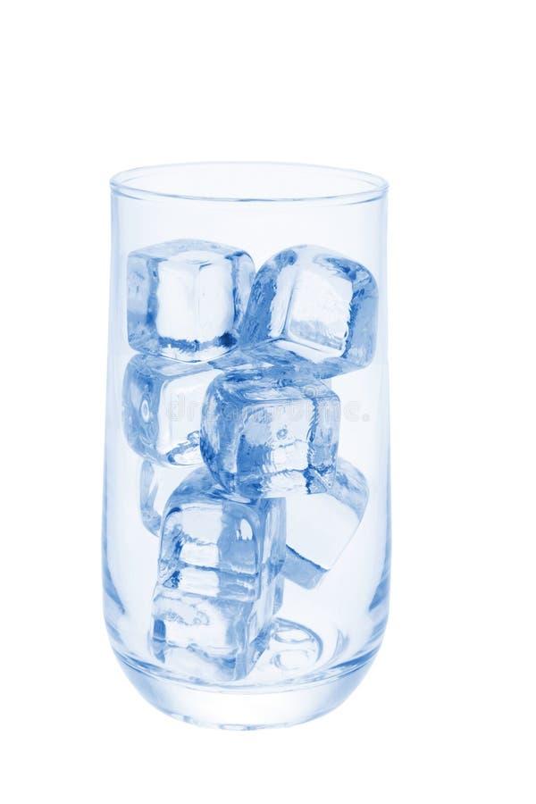Glas Eis-Würfel lizenzfreie stockfotografie