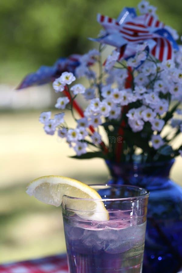 Glas Eis-Wasser lizenzfreie stockbilder