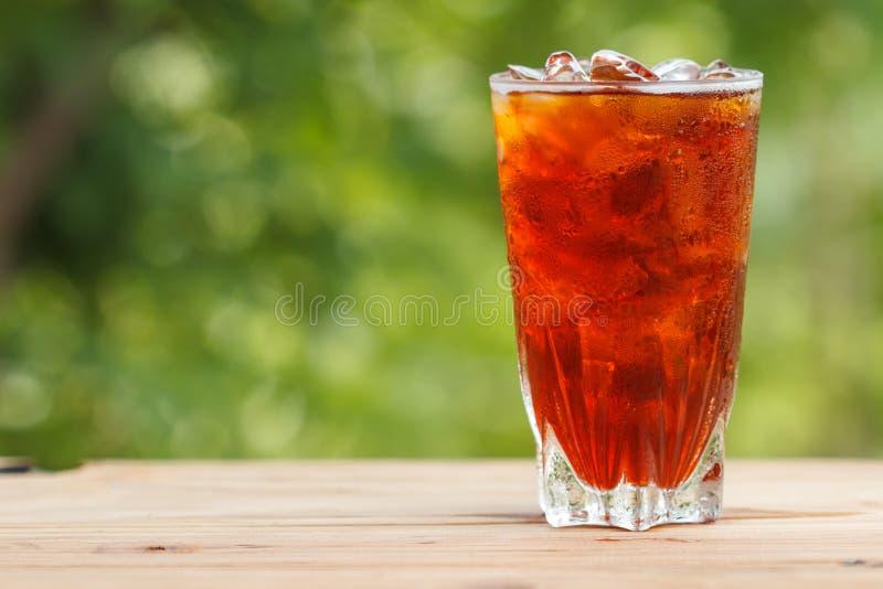 Glas Eistee lizenzfreies stockfoto